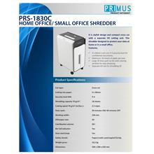 PRIMUS HOME OFFICE / SMALL OFFICE SHREDDER (PRS-1830C)