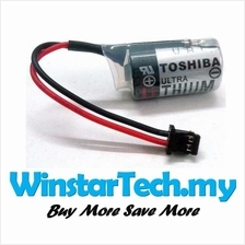 Toshiba ER3V Battery Black Plug 3.6V PLC Module Lithium Battery