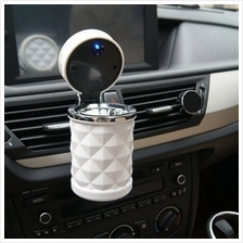 Car Accessories Portable LED Light Car Ashtray Universal Cigarette Cylinder Ho