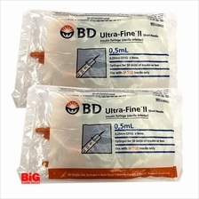 BD ULTRA-FINE INSULIN SYRINGE + SHORT NEEDLE 0 5ml 31G 10s X 2