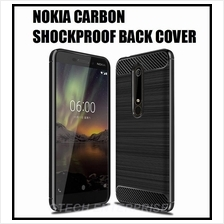 Nokia 6.1 II 2018 7 Plus Carbon Shockproof TPU Back Cover Case