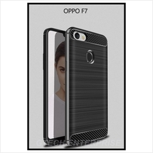 OPPO F7 Carbon Shockproof TPU Back Cover Case