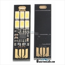 6 LED Cool White Portable USB Light Touch Dimmer Control