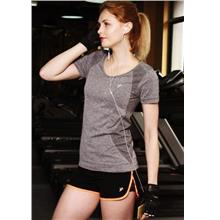 Breathable Quick Dry Ladies' Sport T-shirt (Grey)