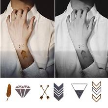 Fashion Waterproof Metal Tattoo Stickers HC-5009