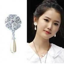 Full Diamond Water Drop Earrings