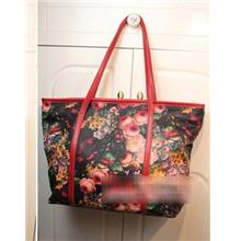 Retro Flower Single Shoulder Bag 15487 (Red)