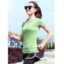Breathable Quick Dry Ladies' Sport T-shirt (Green)