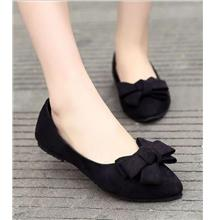 Korean Style Ribbon Pump Shoes (Black)