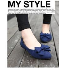 Korean Style Ribbon Pump Shoes (Blue)