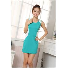 Youth Sleeveless Dress (Lake Blue)