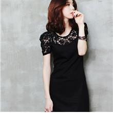 Summer Korean New~Fashion Lace Short Sleeve Dress