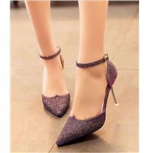 Fashion Blink High Heel Shoes (Purple)