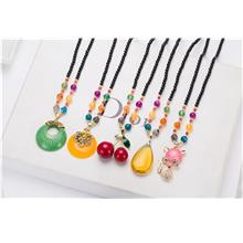 New Style Colourful Jewels Long Type Necklace