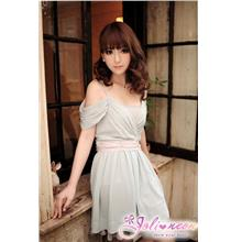 Chiffon Dress 12715 -Grey