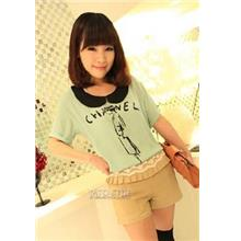 Sweety Baby-Collar 'Channel' Blouse (Green)