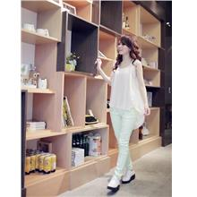 Fashion Pleated Sleeve-less Blouse (Apricot)