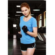 Breathable Quick Dry Ladies' Sport T-shirt (Blue)