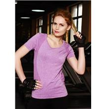 Breathable Quick Dry Ladies' Sport T-shirt (Purple)