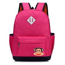 Cute Monkey Kids' Backpack (Rose Red)