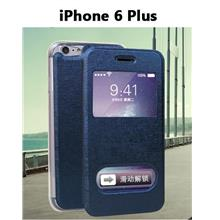 iPhone6 Plus Double Window Phone Stand Leather Case