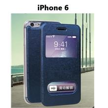 iPhone6 Double Window Phone Stand Leather Case