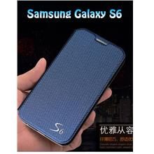 Samsung S6 Diamond Texture Phone Stand Leather Case