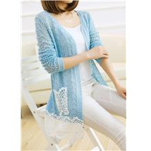 Elegant Hollow Crochet Knit Long-sleeve Jacket (Many Colour)