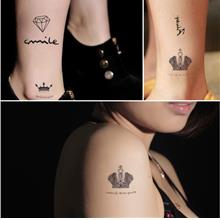 Unisex Type Waterproof Tattoo Stickers (Crown)