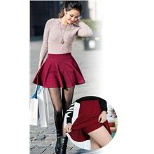 Fashion Plated A-shape Skirt with Inner (Many colour)