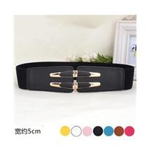 Fashion Gold Wide Flexible Belt
