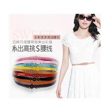 Elegant Three Plum Flower Thin Belt