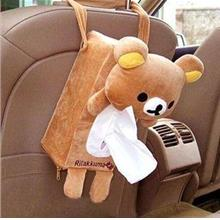 Cute Rilakkuma Car Use Back Seat Hang Type Tissue Box