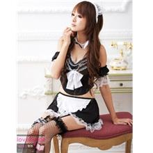 Black White Cute-cute Maid Wear 7 pcs 10800