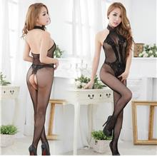 Hot~Backless Sexy Fishnet Stocking (Black)