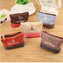 Korean Creative Canvas Mini Pouch