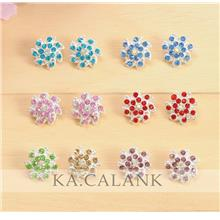 Maple Flower Rhinestone Pin Tudung (1pcs)