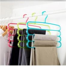 Multi-function Four Layers Colourful Pants Hanger