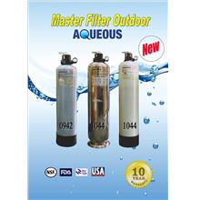 Aqueous SS 10' x 44' Stainless Steel Outdoor Water Filter System