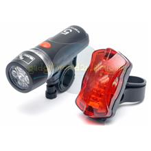 Bicycle / Bike Light Set #3 ~5 Luxeon LED Headlight & 5 LED Back Light