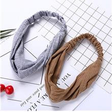 Korea Style Lovely Knit Cross Hair Band
