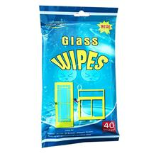 Portable Smart Clean Glass Wipes Wet Sheet 40pcs