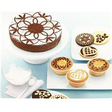Cake Icing Sugar Stencil Top Sets (8pcs) -Flower Side