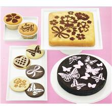 Cake Icing Sugar Stencil Top Sets (8pcs) -Butterfly