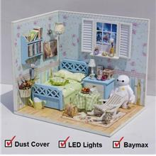 DIY Miniature Cartoon House [White Baymax] + Cover + LEDs