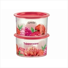 Tupperware Blooming Peonies One Touch Topper Junior (2) 600ml