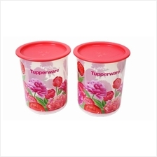 Tupperware Blooming Peonies One Touch Canister Junior (2) 1.25L