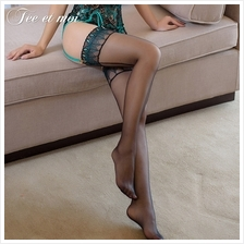 Sexy Embroidery Peacock Feathers Thigh High Stockings