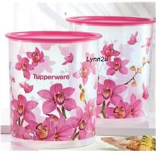 Tupperware Orchid Elegance One Touch Canister Large (2) 4.3L