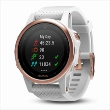 Garmin Fenix 5s Sapphire GPS Watch SEA (White with Rose Gold)